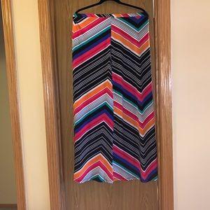 Dresses & Skirts - Midi multi colored striped skirt